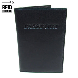 RFID Blocking Passport Case- Black