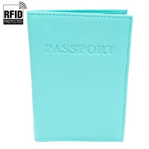 RFID Blocking Passport Case - Turquoise
