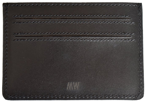 Leather Card Holder-Black