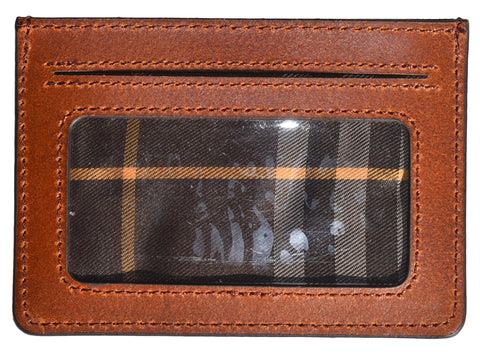 Leather Card Holder-Brown