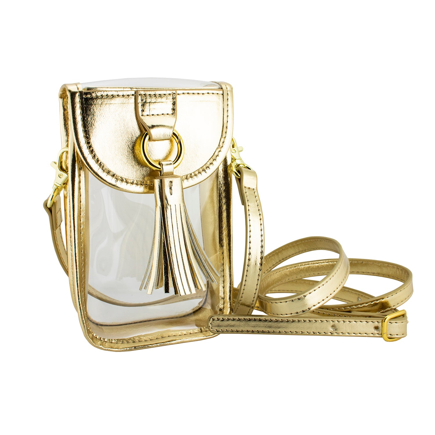Cell Phone Crossbody Bag-Gold
