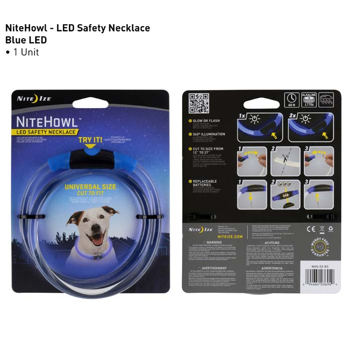 NiteHowl Safety Collar- Blue