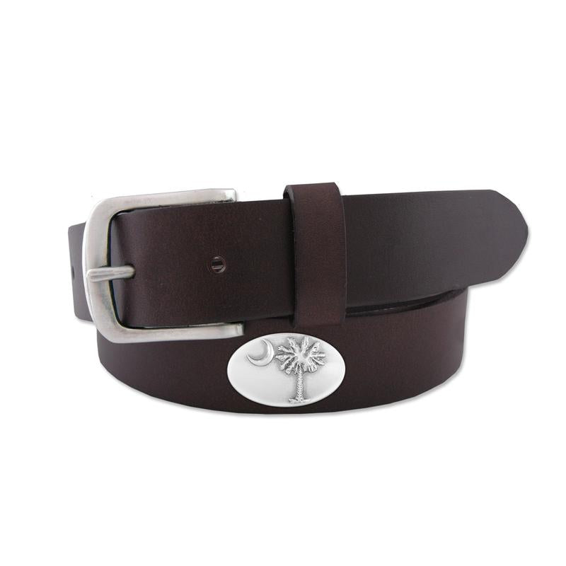 Palmetto Concho Leather Belt