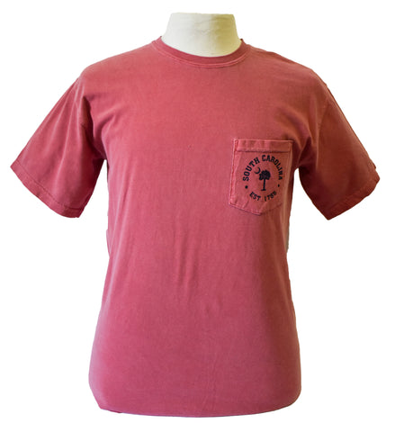 Short Sleeve SC Printed T-Shirt-Burgundy