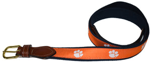 Leather Tab Belt-Clemson University