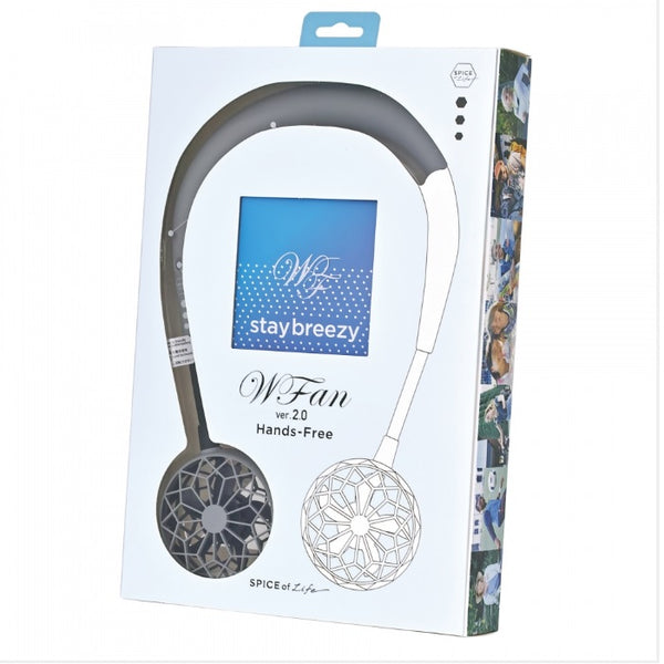 Wearable Hands Free Fan- Grey