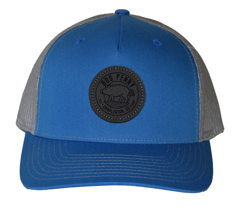 Hog Penny Trucker Hat- Cobalt Blue/ Gray