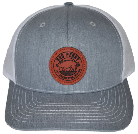 Hog Penny Trucker Hat- Gray/White