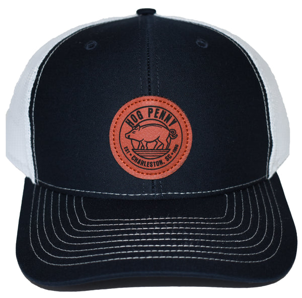 Hog Penny Trucker Hat- Navy/White