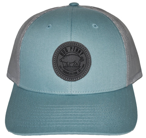 Hog Penny Trucker Hat- Smoke Blue/Aluminium
