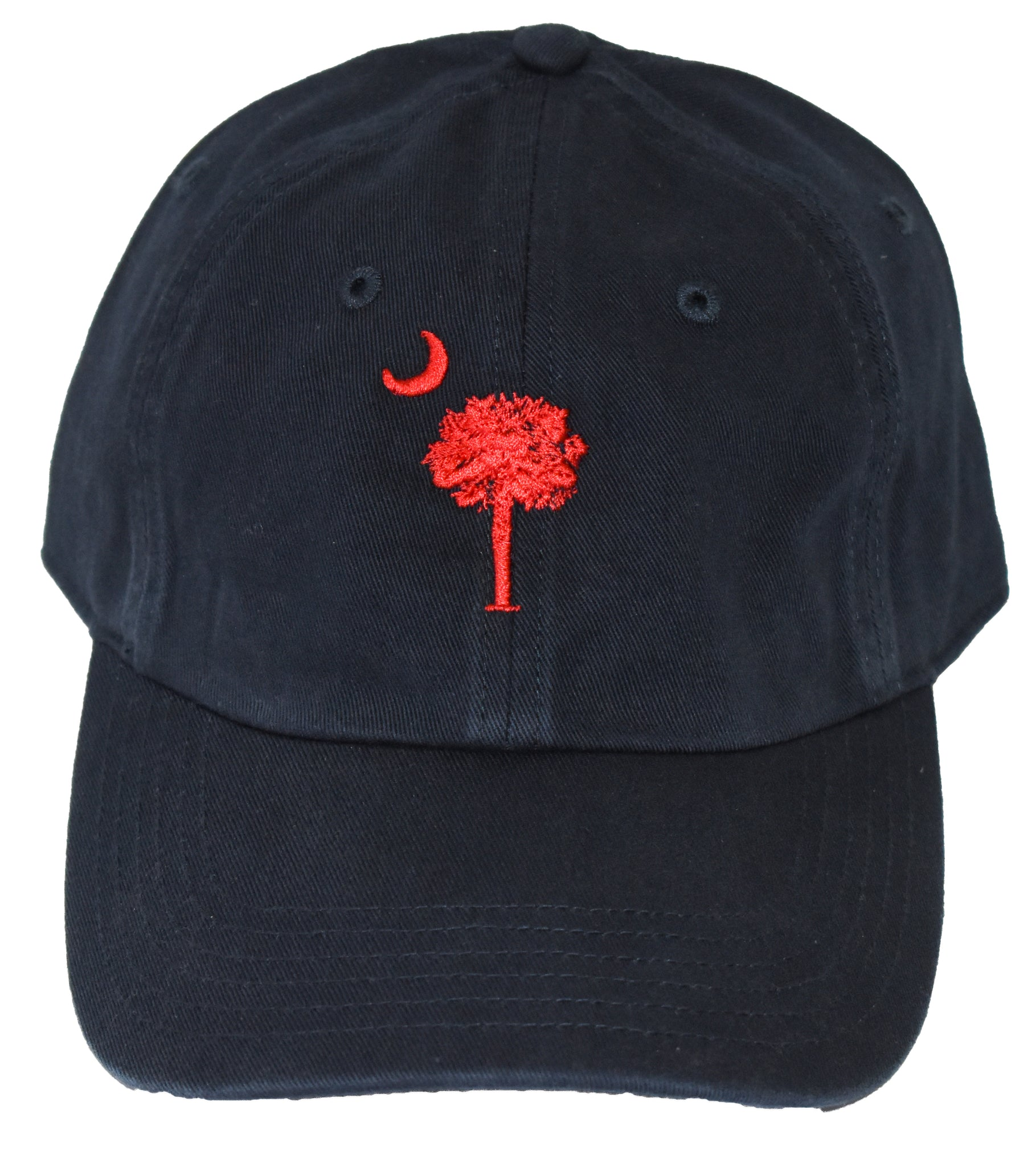 SC Palm Tree Embroidered Hat- Navy/Red
