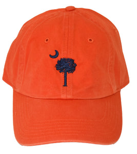 SC Palm Tree Embroidered Hat- Orange/Navy