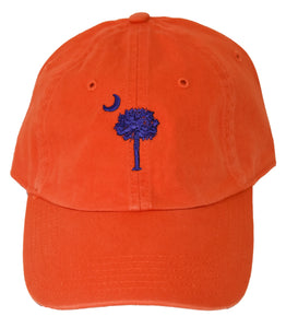 SC Palm Tree Embroidered Hat- Orange/Purple