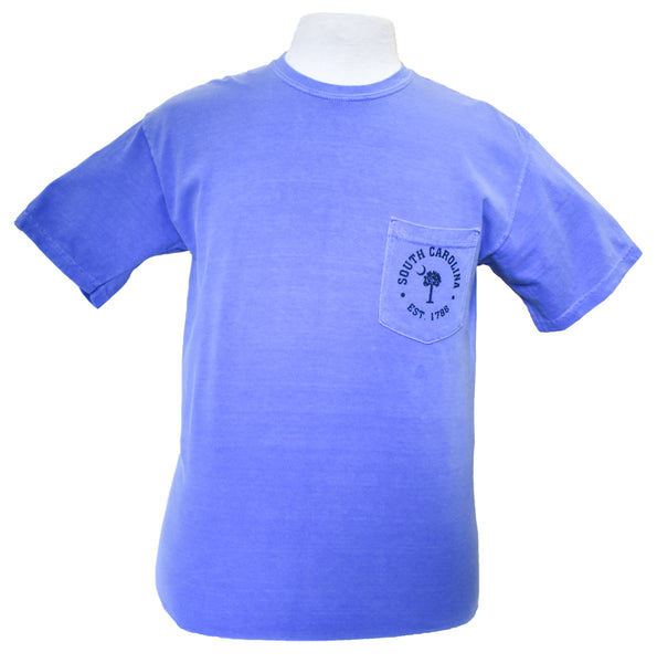 Short Sleeve SC Printed T-Shirt-Periwinkle