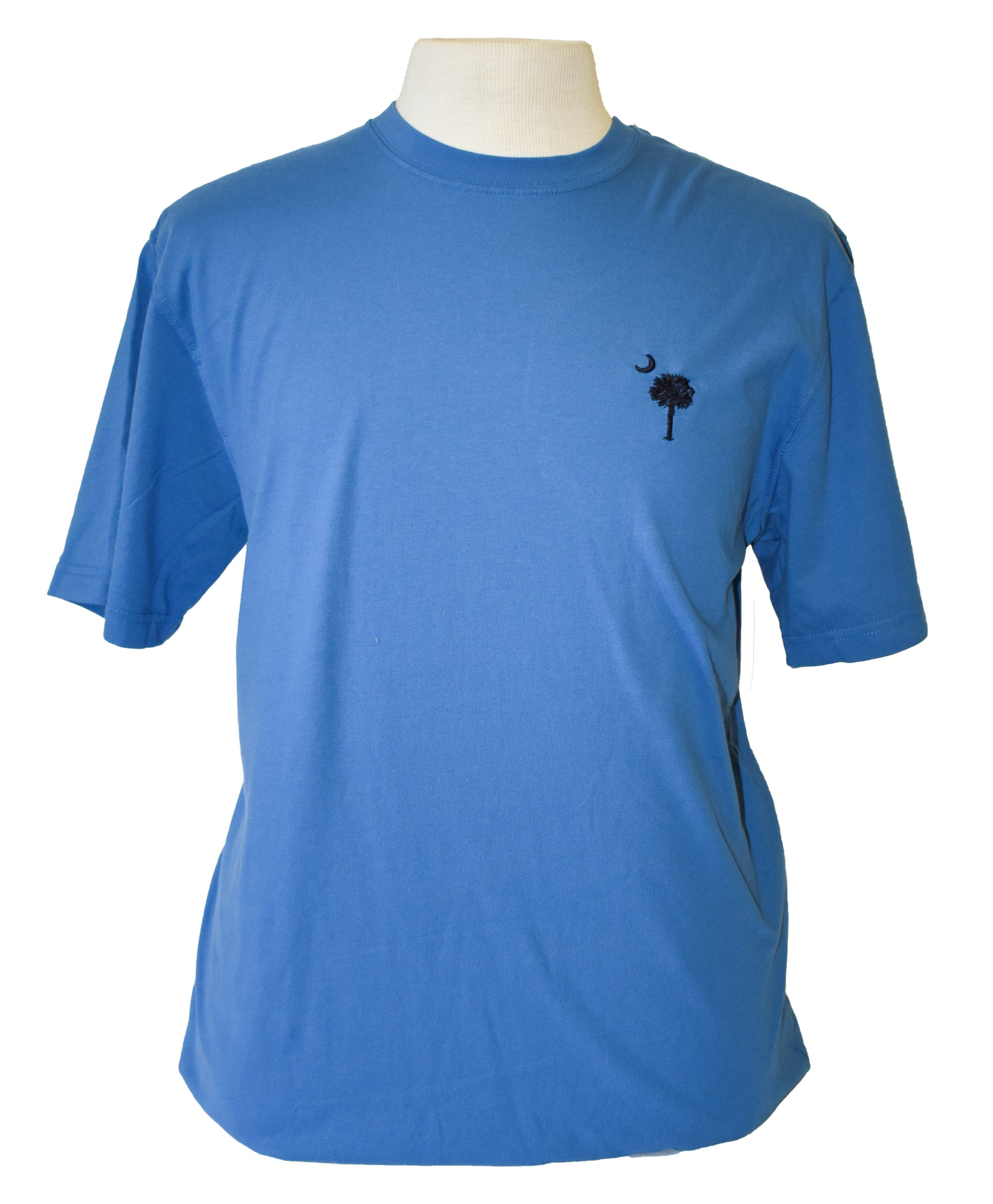 Short Sleeve SC Embroidered T-Shirt -Blue