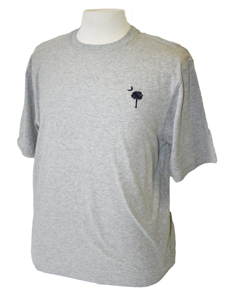 Short Sleeve SC Embroidered T-Shirt- Gray