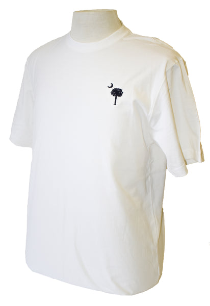 Short Sleeve SC Embroidered T-Shirt- White
