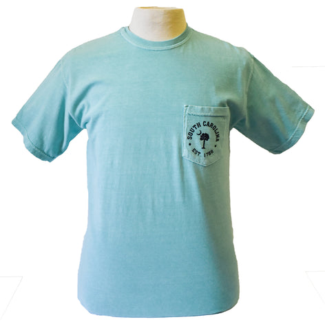 Short Sleeve Printed T-Shirt- Seafoam