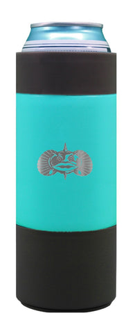 Non-Tipping Slim Can Cooler- Teal