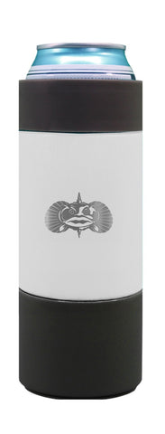 Non-Tipping Slim Can Cooler- White