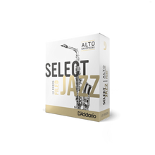 Load image into Gallery viewer, D'Addario Woodwinds Select Jazz Filed Alto Saxophone Reeds 10-Pack