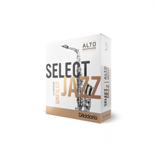 Load image into Gallery viewer, D'Addario Woodwinds Select Jazz Unfiled Alto Saxophone Reeds 10-Pack
