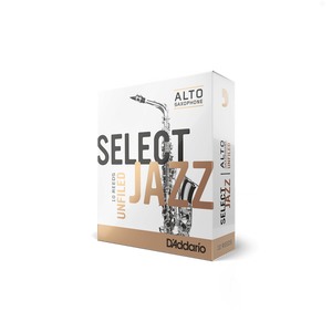 D'Addario Woodwinds Select Jazz Unfiled Alto Saxophone Reeds 10-Pack