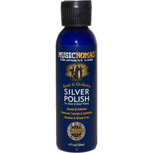 MusicNomad Silver Polish for Silver & Silver Plated Instruments 4oz. Bottle