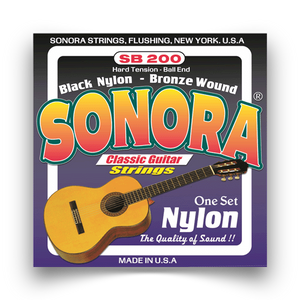 Sonora SB 200 Classical Guitar Strings Black Nylon