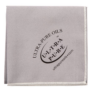 Ultra-Pure Extra Large Microfiber Polishing Cloth - Grey