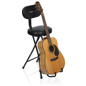 Gator Frameworks Combination Guitar Performance Seat and Single Guitar Stand
