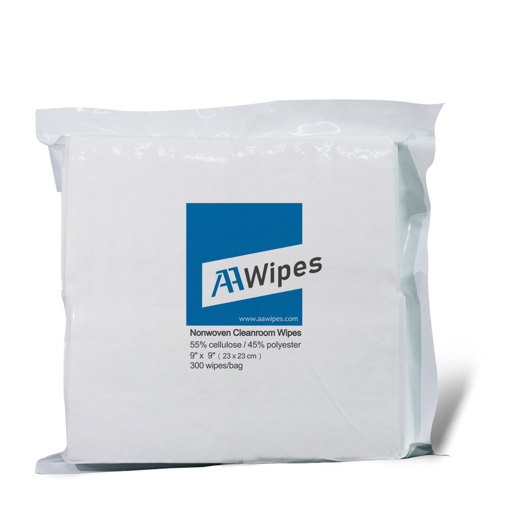 Cleanroom Wipes, Non-Sterile, Cellulose/Polyester, 6