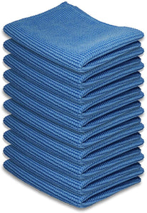 "Microfiber Cleaning Cloths Blue (6""x 7"", 10 Pack)"