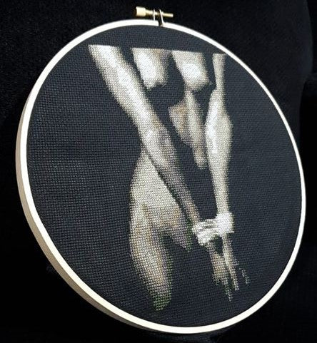 Bondage 02 - Cross Stitch Pattern Chart Erotic Nude Sexy NSFW