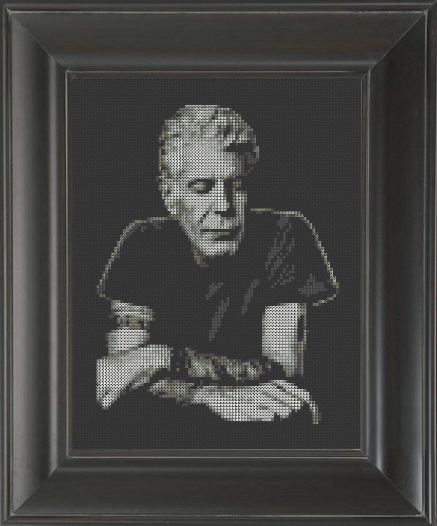 Anthony Bourdain - Cross Stitch Pattern Chart