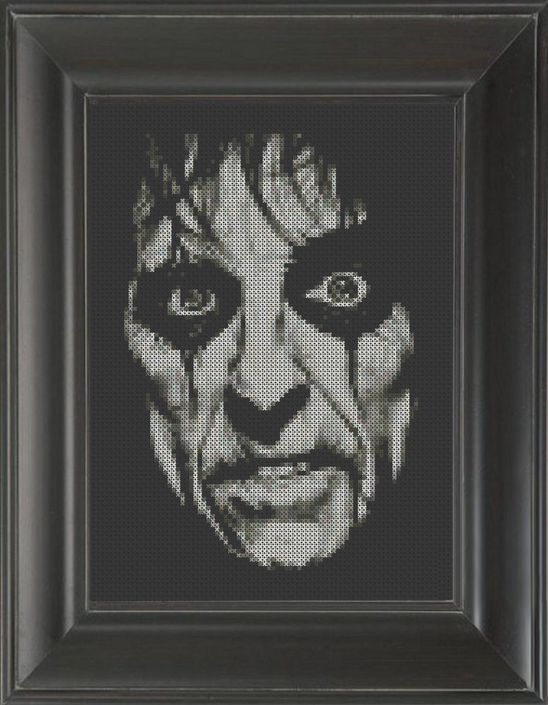 Alice Cooper on Black - Cross Stitch Pattern Chart