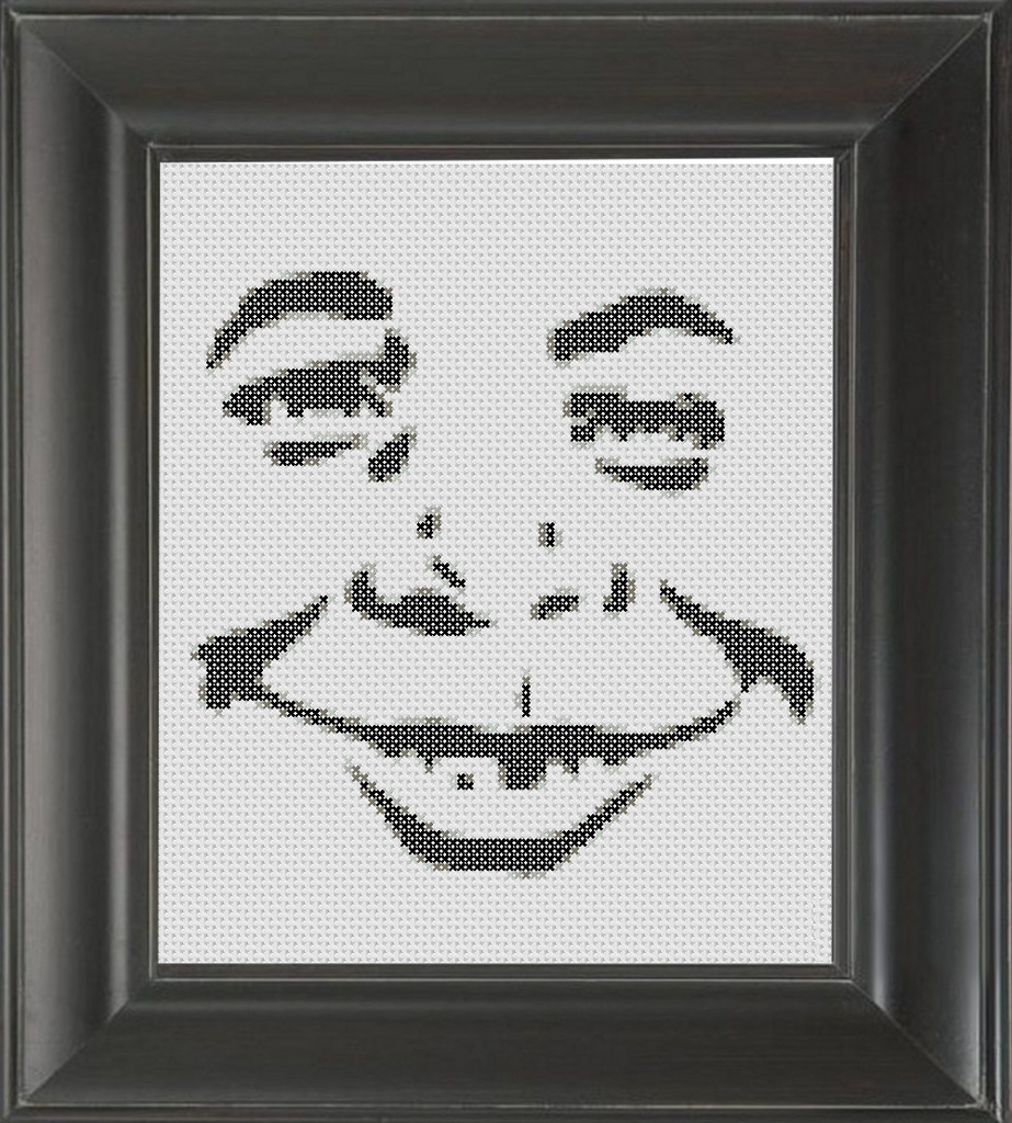 Alfred E. Neuman BW - Cross Stitch Pattern Chart