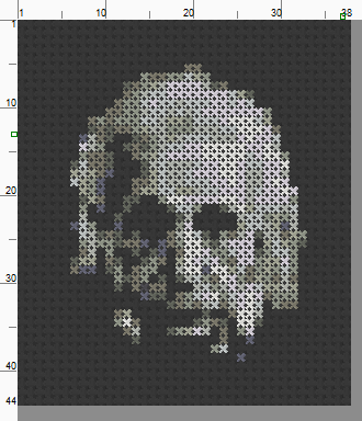 Albert Einstein Threezle - Cross Stitch Pattern Chart
