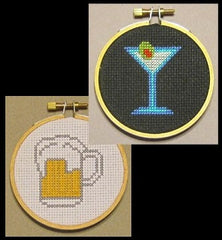 Alcohol Threezle Set - Cross Stitch Pattern Chart