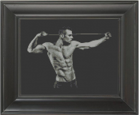 Bodybuilder - Cross Stitch Pattern Chart