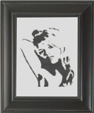 Bridget Bardot BW - Cross Stitch Pattern Chart