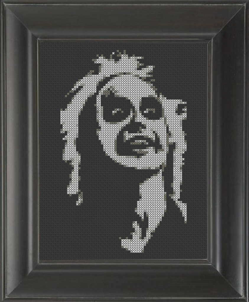 Beetlejuice - Cross Stitch Pattern Chart