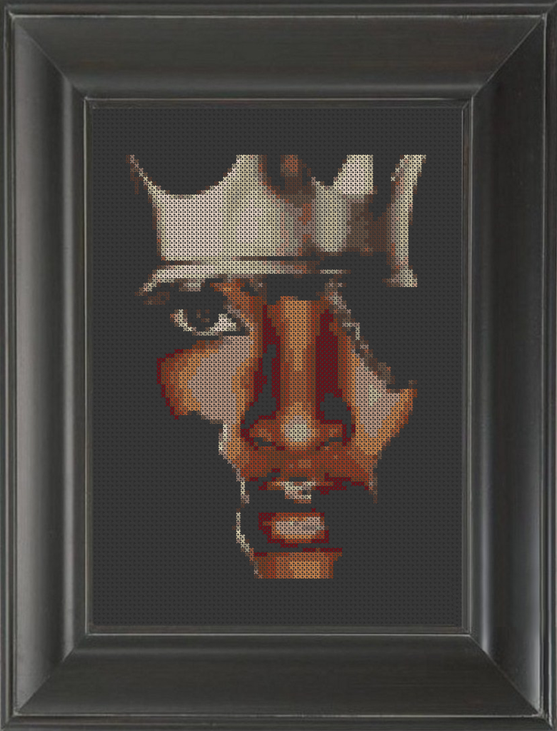 Black Queen - Cross Stitch Pattern Chart