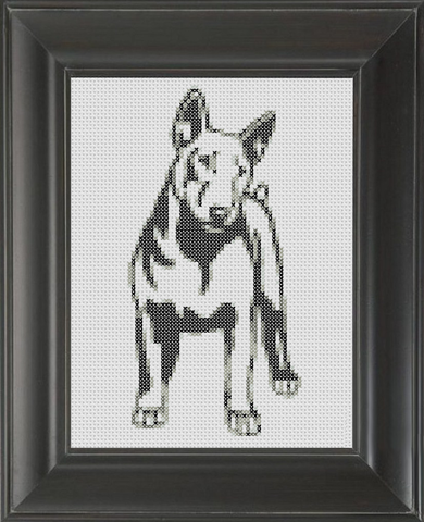Bull Terrier BW - Cross Stitch Pattern Chart