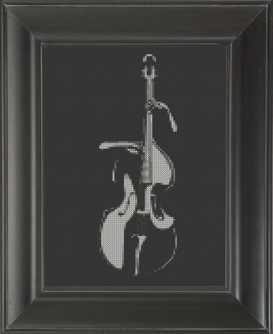 Bass Upright 02 - Cross Stitch Pattern Chart