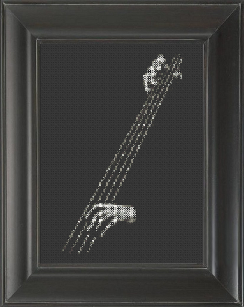 Bass Upright - Cross Stitch Pattern Chart