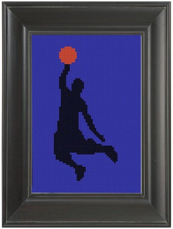 Ballin' - Cross Stitch Pattern Chart Basketball