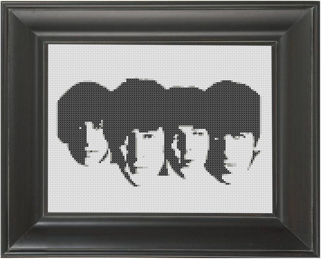 The Beatles BW 02 - Cross Stitch Pattern Chart