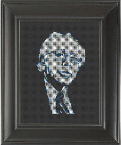 Bernie Sanders - Cross Stitch Pattern Chart