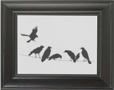 Birds on a Wire - Cross Stitch Pattern Chart